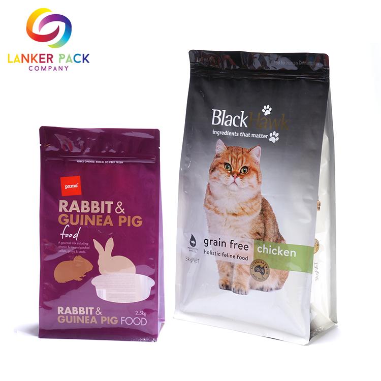 Proof Custom Printed Flat Bottom Animal Feed Bags