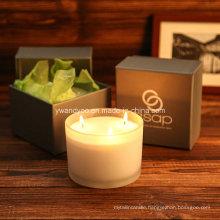 Romantic 3-Wicks Glass Jar Aroma Candle