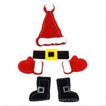 Etiqueta auto-adesiva artesanal de Natal, adesivos de Natal grátis, rolo de adesivos de Natal