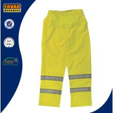 Mens Fluro Farbe Elastische Taille Arbeit Hose