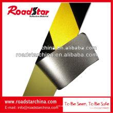 fita de advertência barricada segurança preto amarelo