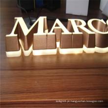LED ao ar livre incorporado letras acrílicas sinais