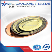 Wholesale factory price hotel restaurant used customized size stainless steel 410 oval dinner plate