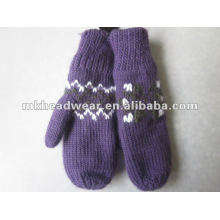 fashion hand knitted women gloves