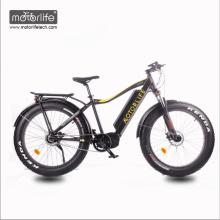 2018 nueva bicicleta eléctrica barata de la zambullida media de Bafang de 1000w 26inch, bicicleta eléctrica del neumático gordo hecha en China