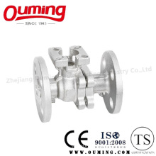 2 PC Split Body Flange Floating Ball Valve