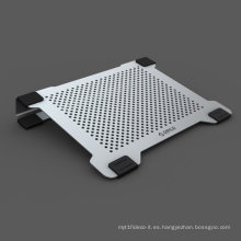 Ventiladores duales de aluminio de 14 pulgadas portátil de refrigeración pad