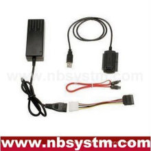Câble convertisseur USB vers SATA / IDE (USB vers IDE, USB vers SATA, USB2.0 sur disque dur série CD-ROM
