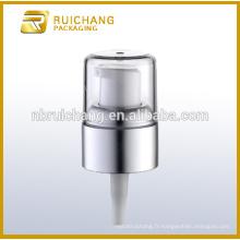 Pompe à distributeur de lotion plastique à vente chaude avec pompe à crème de 20 mm en surcapité AS