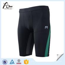 Impression de pantalons de yoga Fitness Compression Running Shorts Hommes