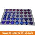 Etiqueta de holograma de laser 3D prateado anti-falsificação de segurança