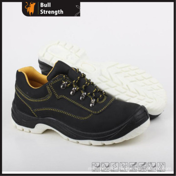 Genuine Leather Industrial Safety Shoe with Steel Toe (SN5274)