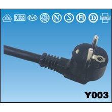 PC cable de alimentación red llevar aprobación SCHUKO enchufe del VDE