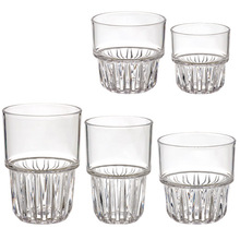 Old Fashion Unbreakable Plastic Whisky Cup Wtih Colorless