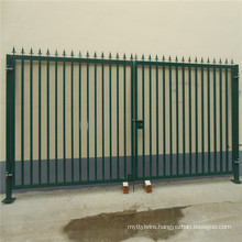 Green PVC coated Security gate/wire mesh fence gate