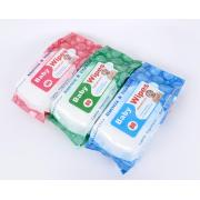 80pcs Biodegradable Hydrophilic Spunbond Baby Wet Wipes