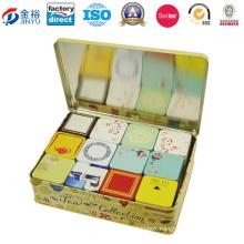 Tea Set Tin Box with 12deisgns Little Tea Tin Inside