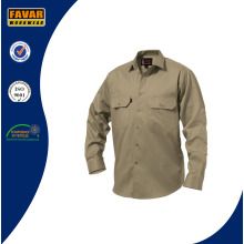 Fire Retardant 100%Cotton Twill Work Shirt Mens