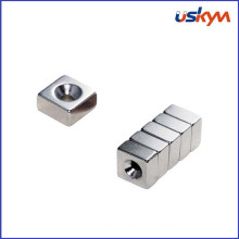 Custom Countersink Block - Neodymium Rare Earth Magnet