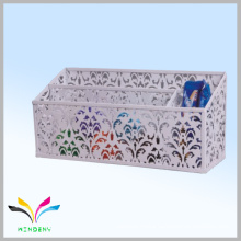 Office household desk storage punched pattern metal organizer