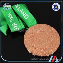 Производство металлический майя логотип золотой медаль