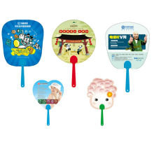 Customise advertising plastic/summer hand fan for promotion or event