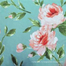 Высококачественный трикотаж с цветочным рисунком DTY с трикотажной печатью