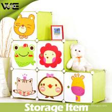 Boîte pliable multifonctionnelle portative de stockage en plastique de style simple d'enfants