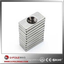 Hot Cube Neodymium Magnet N52/NdFeB Rare Earth Magnet/F100X30X10MM With a Hole Block Magnets Neodymium