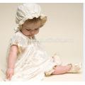 Малыш девушка Принцесса платье для 0-2 летний младенец девочка Крещение Крещение платье pageant платье с шляпа