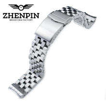 Silver stainless steel metal watch band