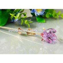 2017 Hot Sale Crystal Rose New Fashion Elegant Pink Flower