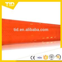 Lámina reflectiva micro prismática naranja de intensidad súper intensa
