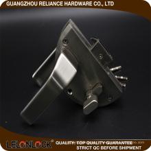 Conception unique vente chaude type zinc alliage verre porte serrure de plancher levier type d'exportation à chaud