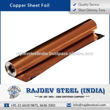Folha de folha de cobre quente de qualidade superior com taxa de mercado atrativa