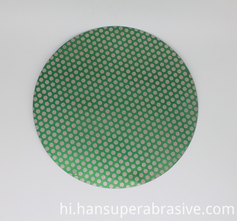 18inch Diamond Lapidary Glass Ceramic Porcelain Magnetic Dot Pattern Grinding Flat Lap Disk