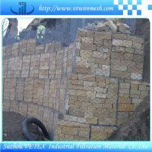 Gabionen-Netz benutzt als Bau-Maschendraht