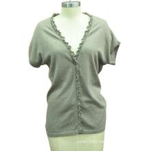 New Design Short Sleeve Fit Knit Women Sweater