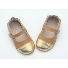 China echtes Leder weiche Sohle Baby Kleid Schuhe