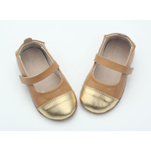 China genuine leather soft sole baby dress shoes