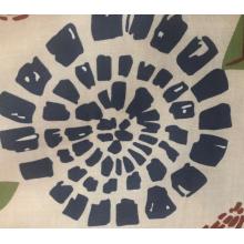 drap de lit en sergé de tissu de polyester d'impression dispersée de conception personnalisée