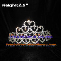 Crystal Heart Pageant Crowns