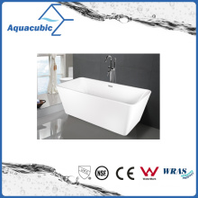 Bathroom Square Acrylic Free-Standing Bathtub (AB1506W-1500)