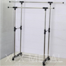 Stainless Steel Double Rails Roll Retractable Clothes Drying Rack