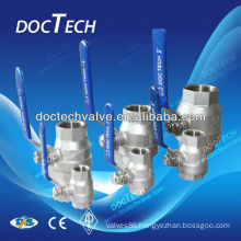2-PC Stainless Steel Floating Ball Valve