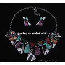 Square Stone Jewelry Set/Fashion Necklace Set (XJW13218)