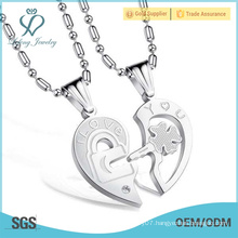 2016 New design Titanium Stainless Steel Lovers Necklace love necklaces for couples
