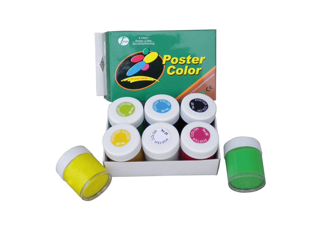 6colors 22ml Poster color for students