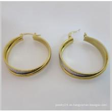 Preiswerter ganzer earring.fashion 18k Gold-Edelstahlohrring, Frauenohrring
