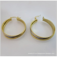 Pendiente entero barato del acero inoxidable del oro earring.fashion 18k, pendiente de las mujeres